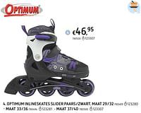 Optimum inlineskates slider paars-zwart-Optimum
