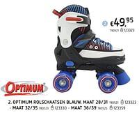 Optimum rolschaatsen blauw-Optimum