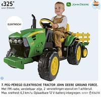 Peg-pérego elektrische tractor john deere ground force-John Deere
