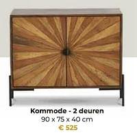 Kommode - 2 deuren-Huismerk - Euroshop