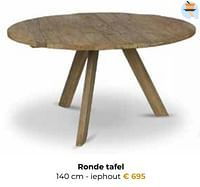 Ronde tafel iephout-Huismerk - Euroshop