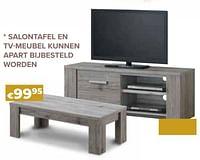 Salontafel en tv-meubel kunnen apart bijbesteld worden-Huismerk - Euroshop