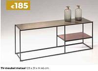 Tv-meubel metaal-Huismerk - Euroshop
