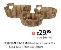 Dienblad hout 3 st-Huismerk - Dreamland
