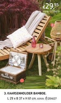 Kaarsenhouder bamboe-Huismerk - Dreamland