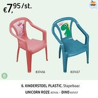 Kinderstoel plastic unicorn roze-Huismerk - Dreamland