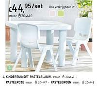 Kindertuinset pastelblauw pastelroze-Huismerk - Dreamland