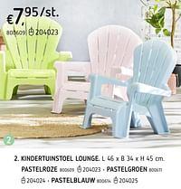 Kindertuinstoel lounge pastelroze-Huismerk - Dreamland