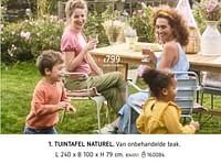 Tuintafel naturel-Huismerk - Dreamland