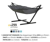 Hangmat met standaard grijs-Huismerk - Dreamland