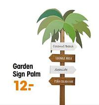 Garden sign palm-Huismerk - Kwantum