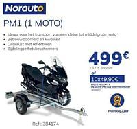 Aanhangwagen pm1 1 moto-Norauto