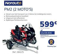 Aanhangwagen pm2 2 moto`s-Norauto