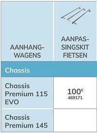 Aanpassingskit fietsen chassis premium 115 evo-Norauto