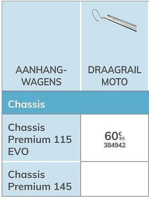 Draagrail moto chassis premium 115 evo