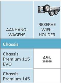 Reserve wielhouder chassis premium 115 evo-Norauto