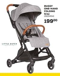 Buggy one-hand folding grey-Little Dutch