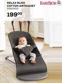 Relax bliss cotton antraciet-BabyBjorn