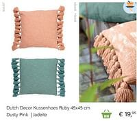Dutch decor kussenhoes ruby 45x45 cm dusty pink jadeite-Huismerk - Multi Bazar