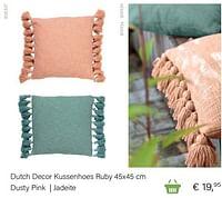 Dutch decor kussenhoes ruby 45x45 cm dusty pink jadeite-Huismerk - Multi Bazar