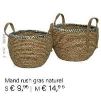 Mand rush gras naturel-Huismerk - Multi Bazar