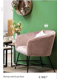 Ramsey zetel dusty rose-Huismerk - Multi Bazar