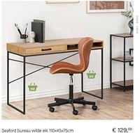 Seaford bureau wilde eik 110x45x75cm-Huismerk - Multi Bazar