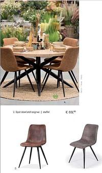 Spot stoel stof cognac staffe-Huismerk - Multi Bazar