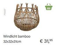 Windlicht bamboo-Huismerk - Multi Bazar