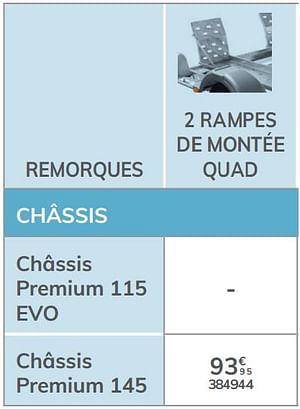 2 rampes de montée quad châssis premium 145