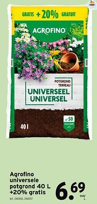 Agrofino universele potgrond 40 l +20% gratis-Agrofino