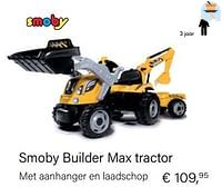 Smoby builder max tractor-Smoby