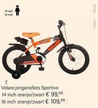 Volare jongensfiets sportivo 14 inch oranje-zwart-Volare
