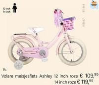 Volare meisjesfiets ashley 12 inch roze-Volare