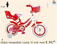 Volare meisjesfiets lovely 12 inch rood-Volare