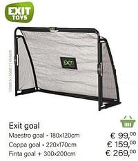 Exit maestro goal-Exit