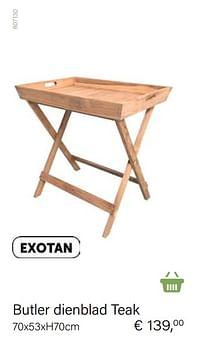 Butler dienblad teak-Exotan
