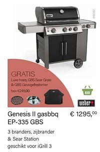 Genesis ii gasbbq ep-335 gbs-Weber