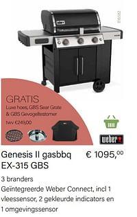 Genesis ii gasbbq ex-315 gbs-Weber