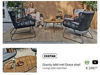 Grace lounge zetel rope-staal-Exotan