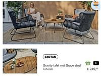 Gravity koffietafel-Exotan
