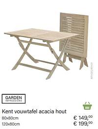 Kent vouwtafel acacia hout-Garden Impressions