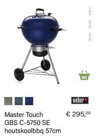Weber master touch gbs c-5750 se houtskoolbbq 57cm-Weber