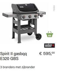 Weber spirit ii gasbqq e320 gbs-Weber