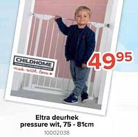 Eltra deurhek pressure wit, 75 - 81cm-Childhome