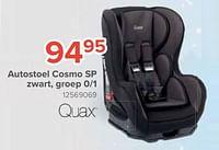 Quax autostoel cosmo sp zwart, groep 0-1-Quax