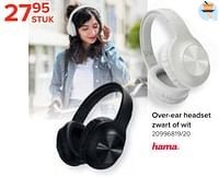 Over-ear headset zwart of wit-Hama