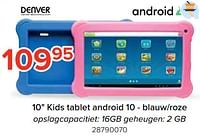 Denver 10 kids tablet android 10 - blauw-roze-Denver Electronics