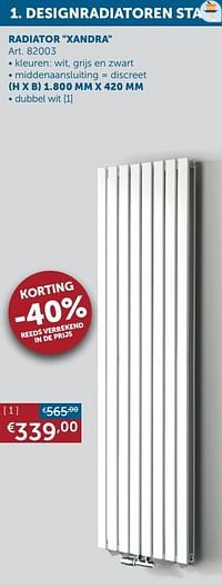 Designradiatoren staal radiator xandra-Beauheat