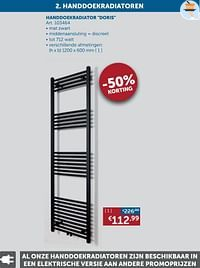Handdoekradiator doris-Beauheat